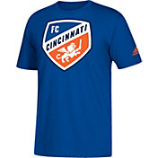 adidas Men's FC Cincinnati Big Logo Royal T-Shirt