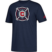 adidas Men's Chicago Fire Big Logo Navy T-Shirt