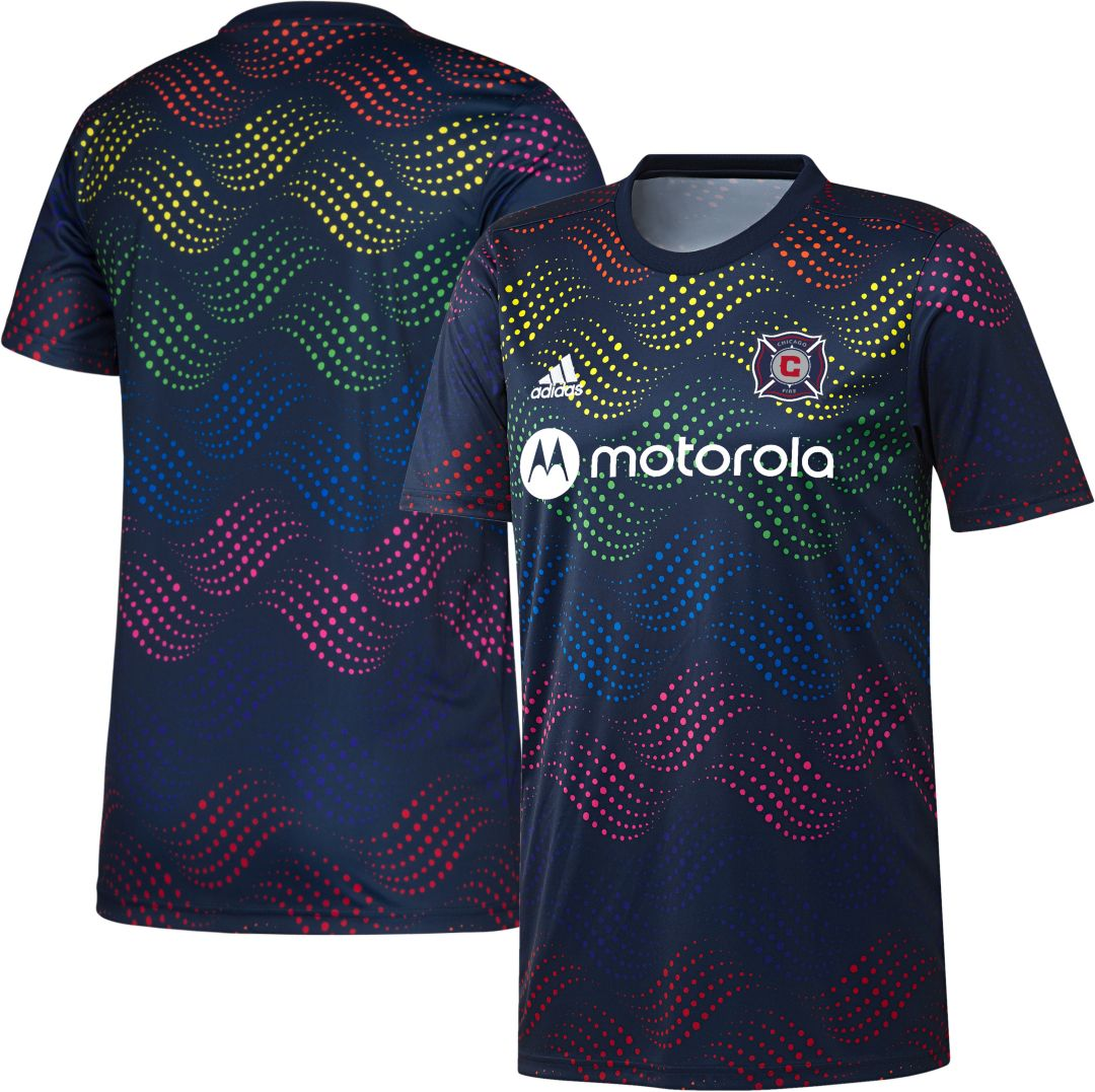 new style 6a77a 008ba adidas Men's Chicago Fire Pride Prematch Jersey