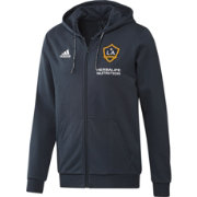 adidas Men's Los Angeles Galaxy Travel Navy Full-Zip Hoodie