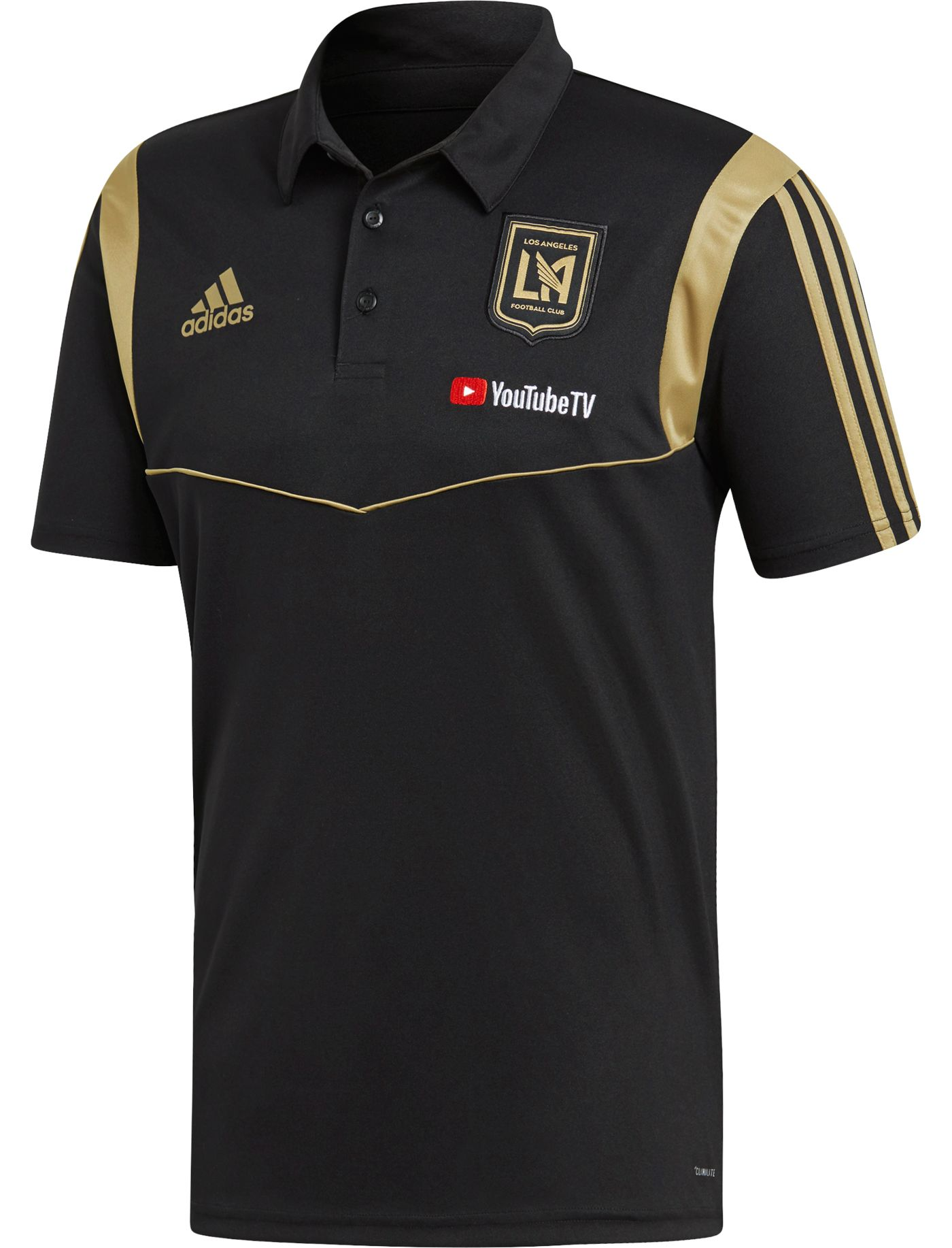 adidas Men's Los Angeles Fc Coaches Black Performance Polo