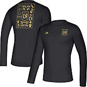 adidas Men's Los Angeles FC Iconic Black Long Sleeve Shirt