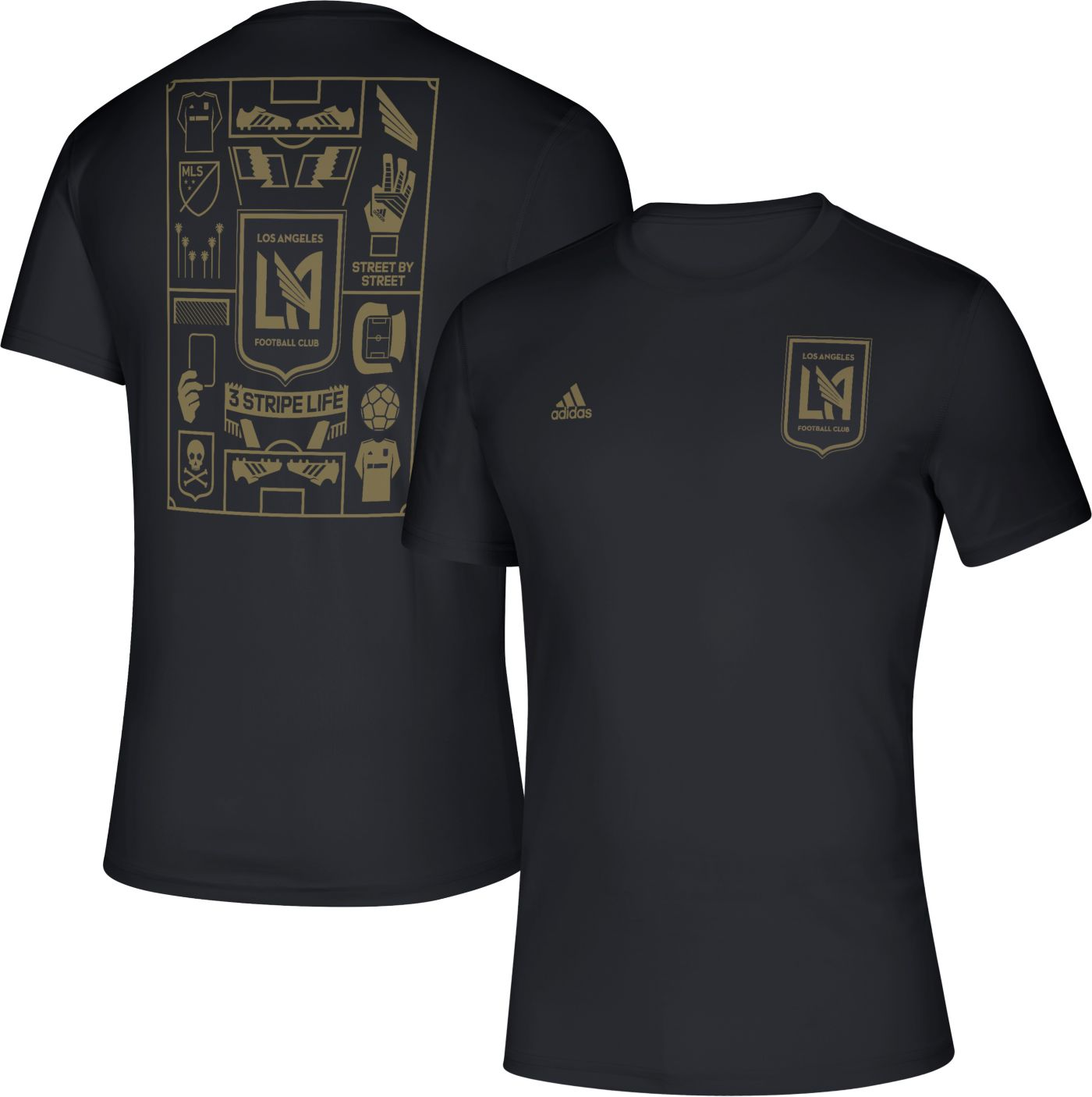 adidas Men's Los Angeles FC Iconic Black T-Shirt