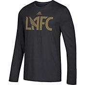 adidas Men's Los Angeles FC Logo Performance Black Long Sleeve Shirt