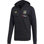 adidas Men's Los Angeles FC Travel Black Full-Zip Hoodie