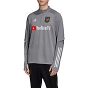 adidas Men's Los Angeles FC Gray Training Quarter-Zip