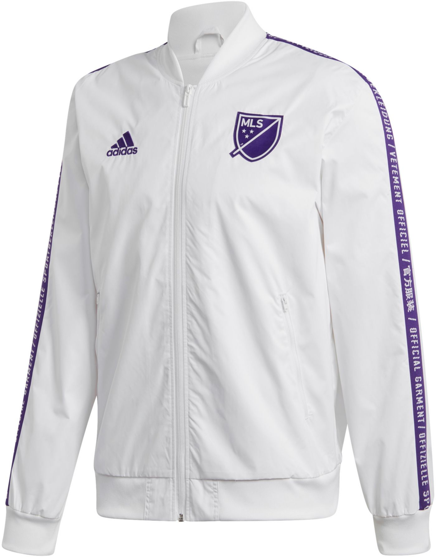 adidas Men's 2019 MLS All-Star Game MLS Anthem White Full-Zip Jacket
