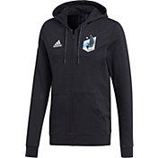adidas Men's Minnesota United FC Travel Black Full-Zip Hoodie