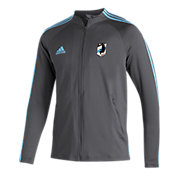 adidas Men's Minnesota United FC Anthem Gray Full-Zip Jacket