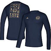 adidas Men's Philadelphia Union Iconic Navy Long Sleeve Shirt
