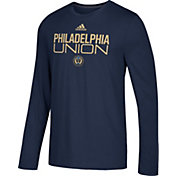 adidas Men's Philadelphia Union Logo Performance Navy Long Sleeve Shirt