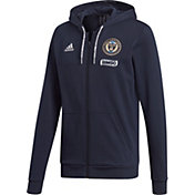 adidas Men's Philadelphia Union Travel Navy Full-Zip Hoodie