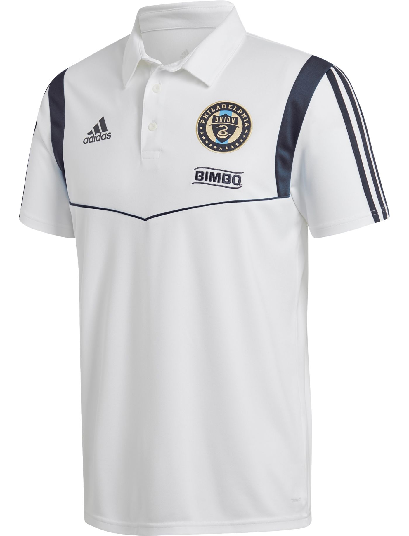 adidas Men's Philadelphia Union Coaches White Performance Polo