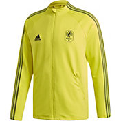 adidas Men's Nashville SC Anthem Yellow Full-Zip Jacket