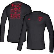 adidas Men's D.C. United Iconic Black Long Sleeve Shirt