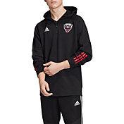 adidas Men's D.C. United Travel Black Quarter-Zip