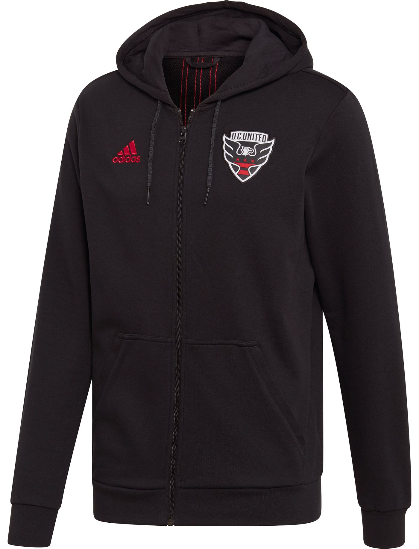 adidas Men's D.C. United Travel Black Full-Zip Hoodie