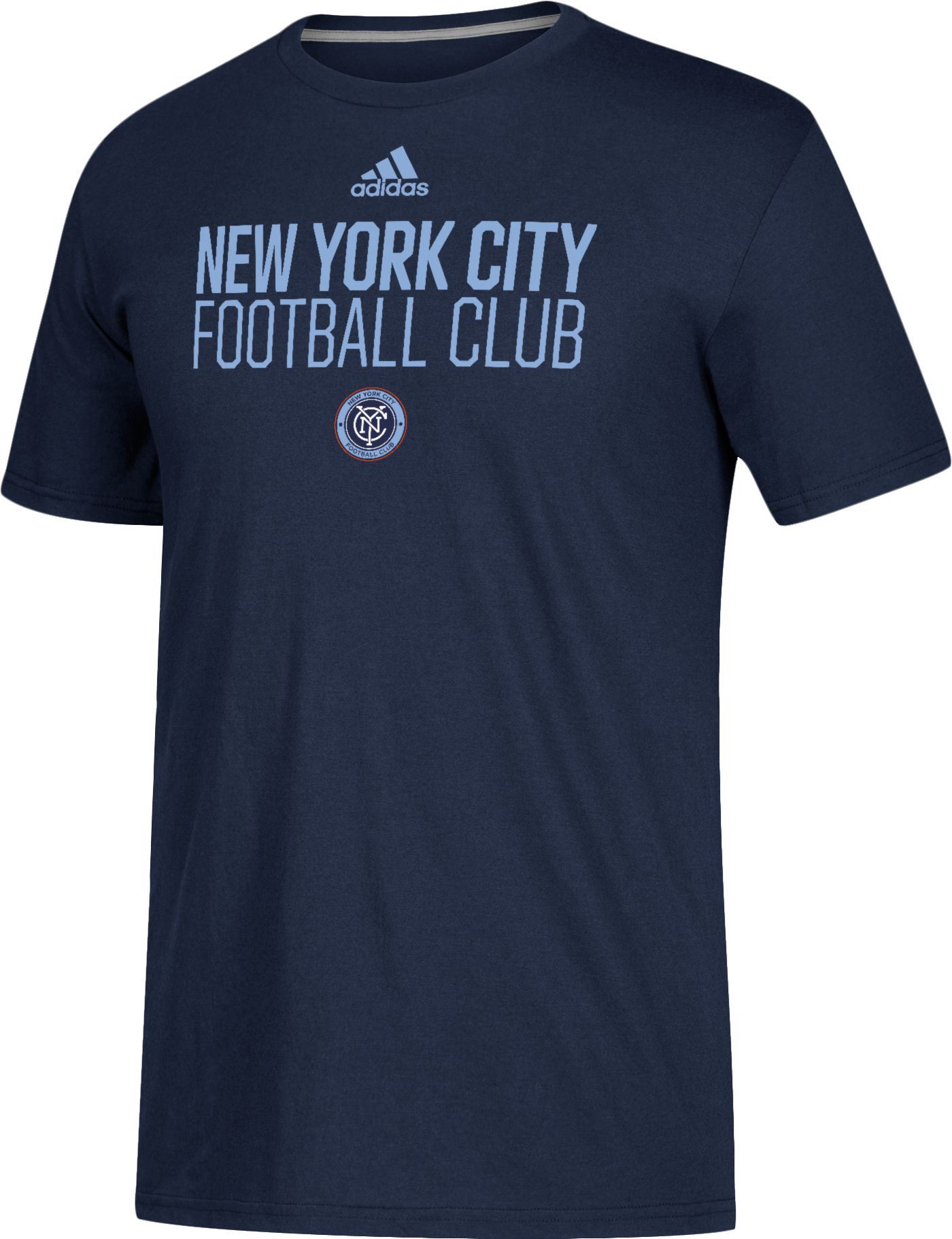 adidas Men's New York City FC Logo Navy Performance T-Shirt