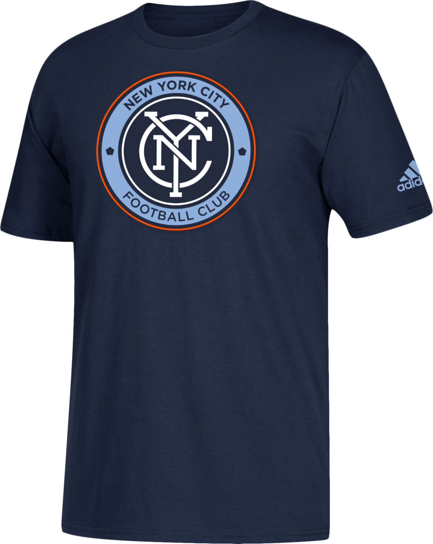 adidas Men's New York City FC Big Logo Navy T-Shirt