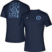 adidas Men's New York City FC Iconic Navy T-Shirt