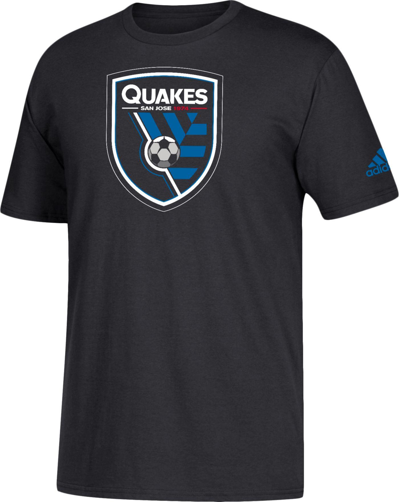 adidas Men's San Jose Earthquakes Big Logo Black T-Shirt