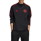 adidas Men's New York Red Bulls Anthem Black Full-Zip Jacket