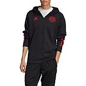 adidas Men's New York Red Bulls Travel Black Quarter-Zip