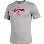 adidas Men's New York Red Bulls Wordmark Gray T-Shirt