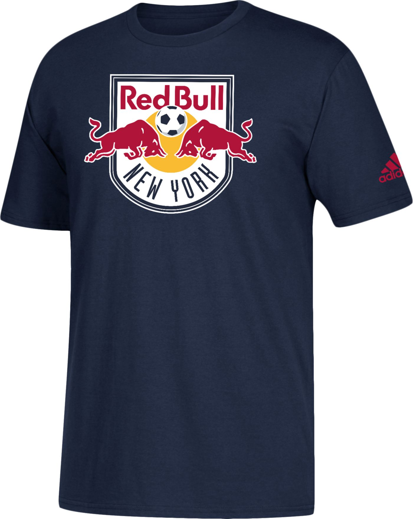 adidas Men's New York Red Bulls Big Logo Navy T-Shirt