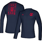 adidas Men's New York Red Bulls Iconic Navy Long Sleeve Shirt