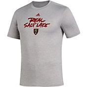 adidas Men's Real Salt Lake Wordmark Gray T-Shirt