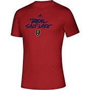 adidas Men's Real Salt Lake Wordmark Red T-Shirt