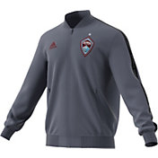 adidas Men's Colorado Rapids Anthem Grey Full-Zip Jacket