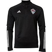 adidas Men's Colorado Rapids Gray Training Quarter-Zip