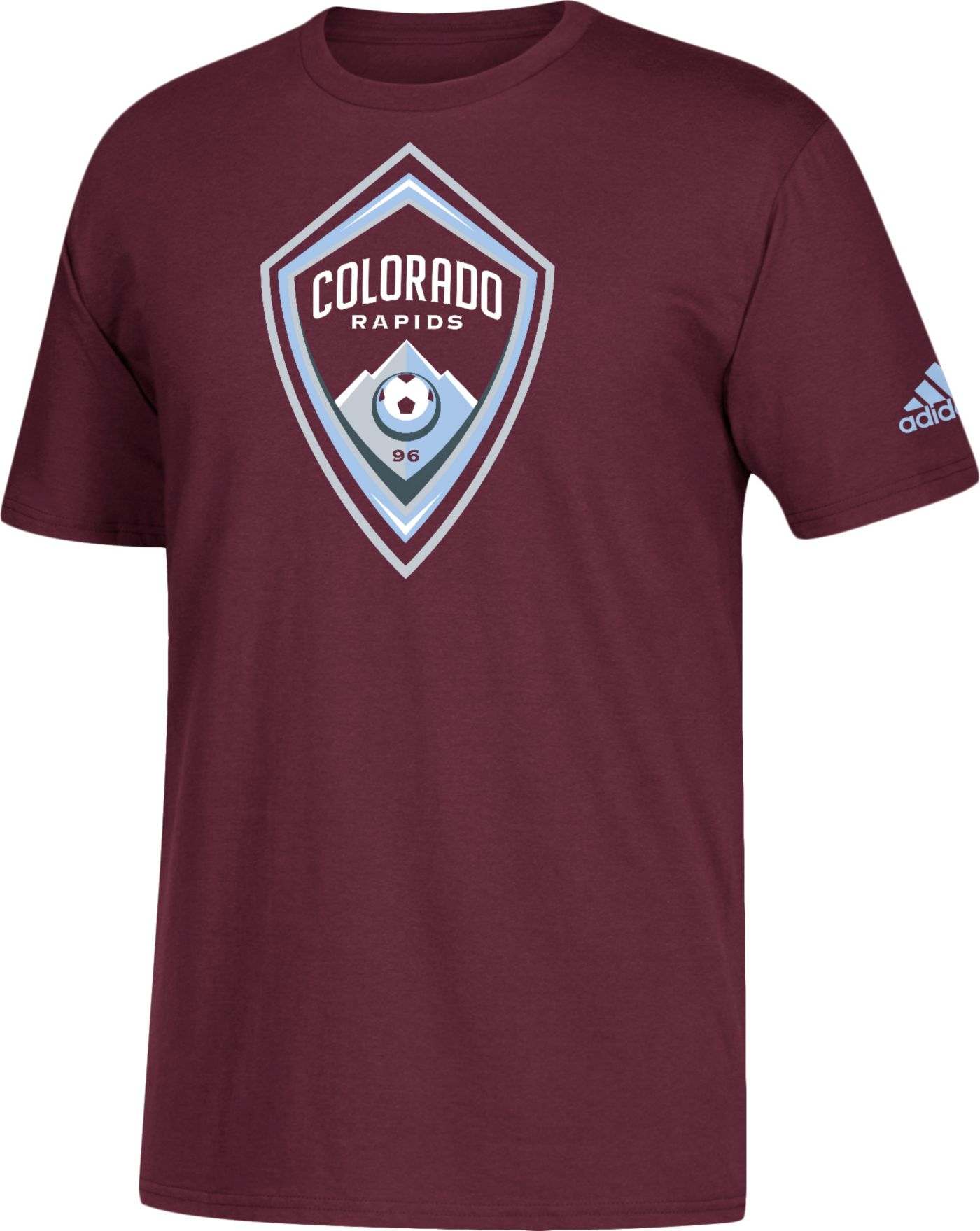adidas Men's Colorado Rapids Big Logo Maroon T-Shirt