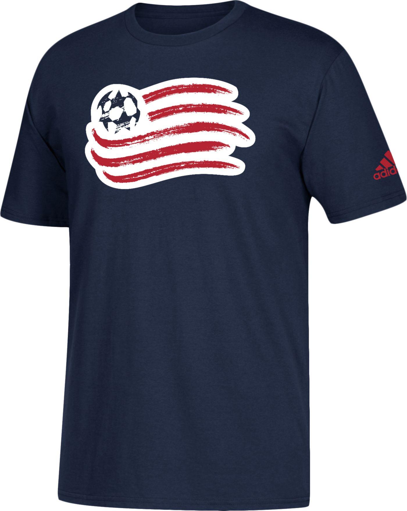 adidas Men's New England Revolution Big Logo Navy T-Shirt