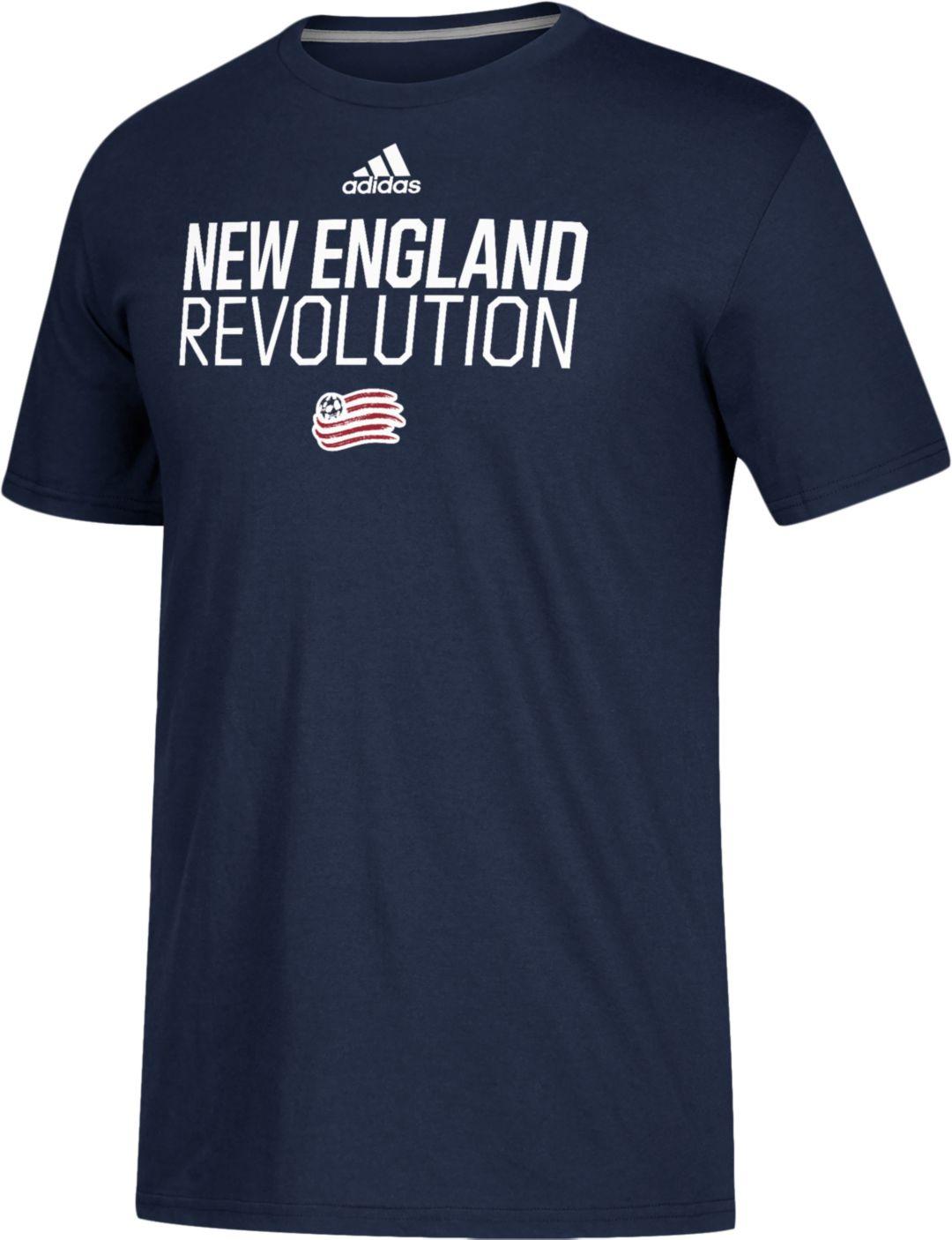 low priced 38f54 1b386 adidas Men's New England Revolution Logo Navy Performance T-Shirt