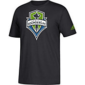 adidas Men's Seattle Sounders Big Logo Black T-Shirt