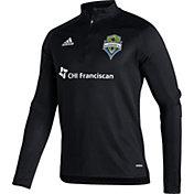 adidas Men's Seattle Sounders Black Training Quarter-Zip