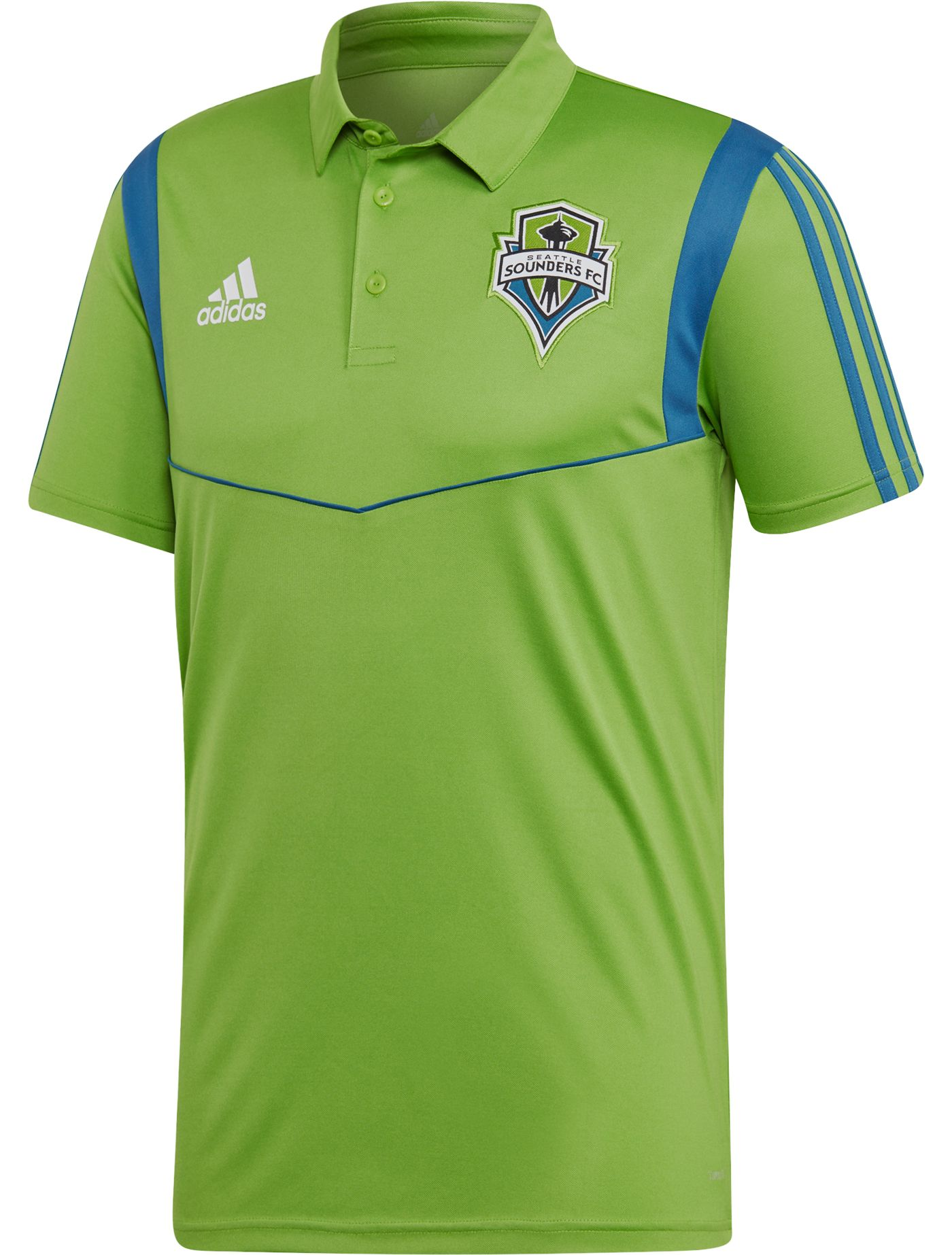 adidas Men's Seattle Sounders Coaches Green Performance Polo