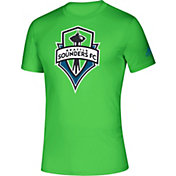 adidas Men's Seattle Sounders Logo Green Performance T-Shirt