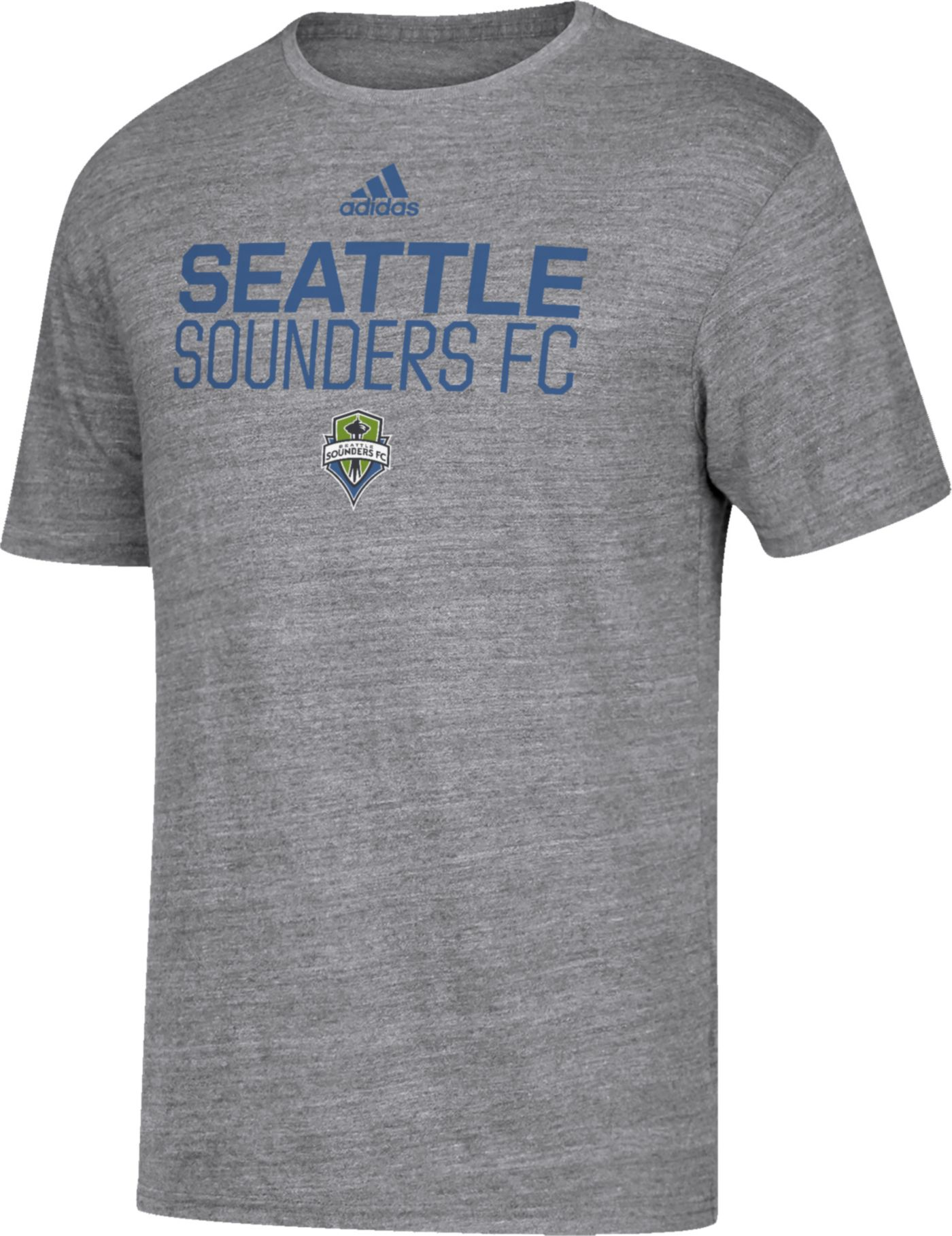 adidas Men's Seattle Sounders Locker Heather Grey Tri-Blend T-Shirt