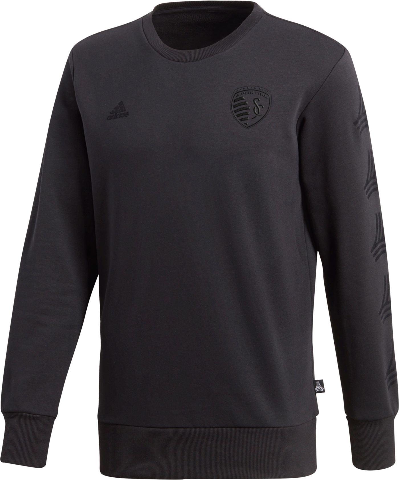 adidas Men's Sporting Kansas City Tango Black Crew Sweatshirt