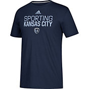 adidas Men's Sporting Kansas City Logo Navy Performance T-Shirt