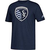 adidas Men's Sporting Kansas City Big Logo Navy T-Shirt