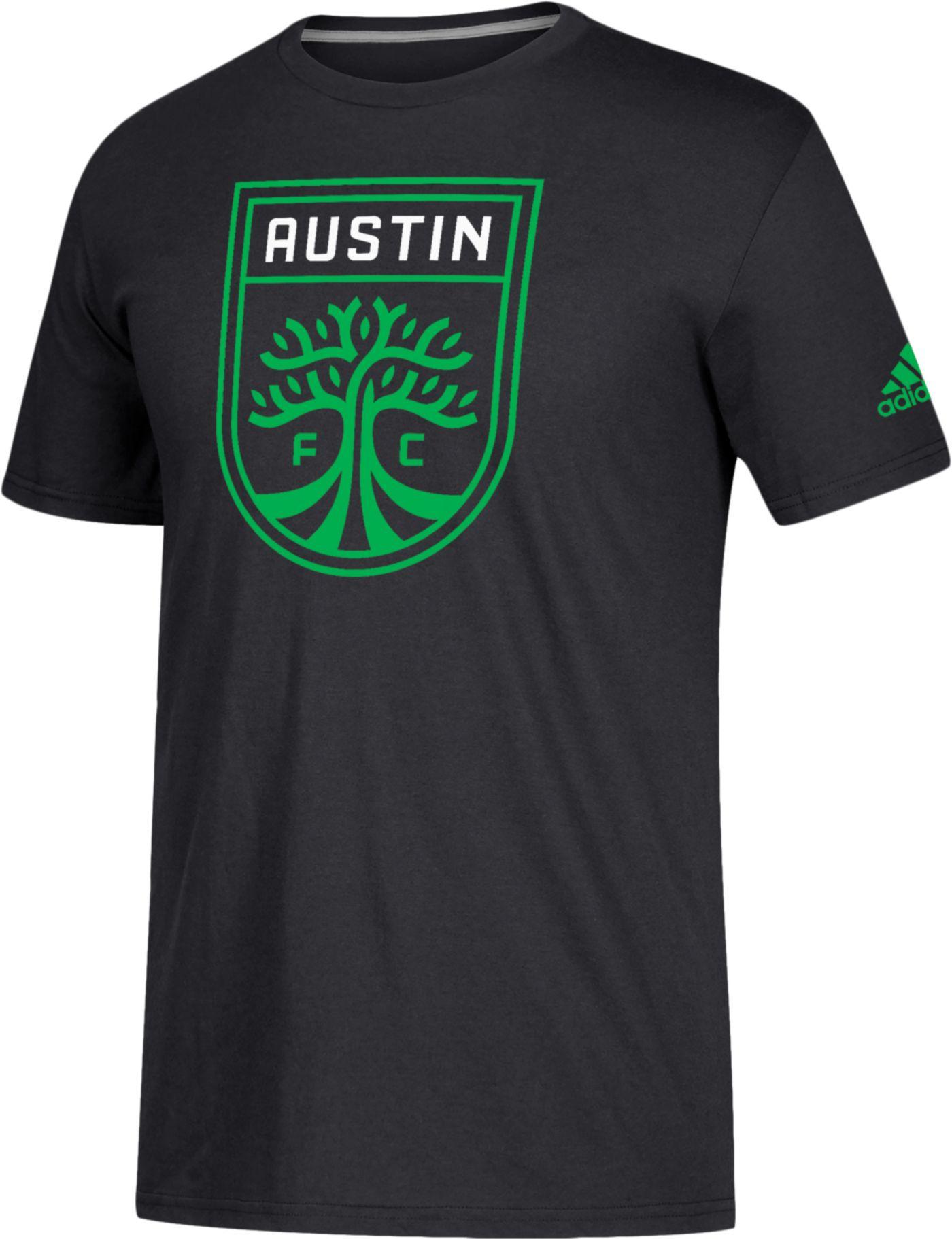 adidas Men's Austin FC Logo Black T-Shirt