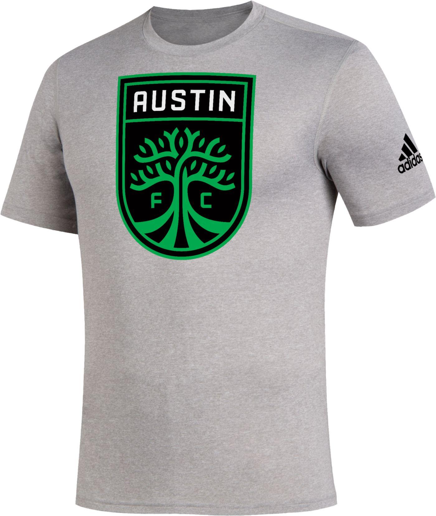 adidas Men's Austin FC Logo Heather Grey T-Shirt