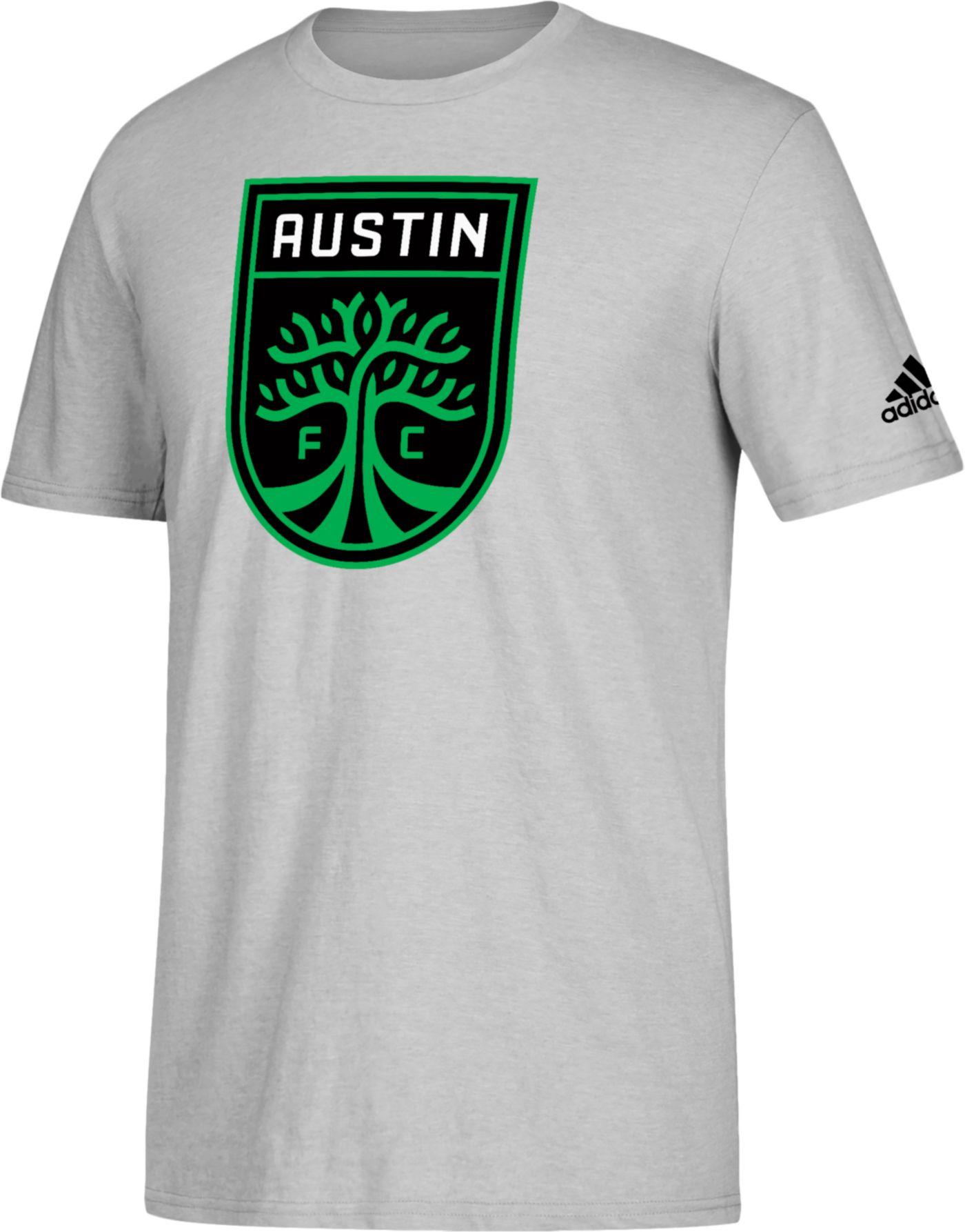 adidas Men's Austin FC Logo Gray T-Shirt