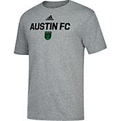 adidas Men's Austin FC Wordmark Tri-Blend Gray T-Shirt