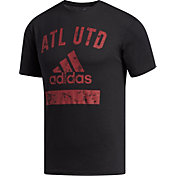 adidas Men's Atlanta United Wordmark Black Tri-Blend T-Shirt